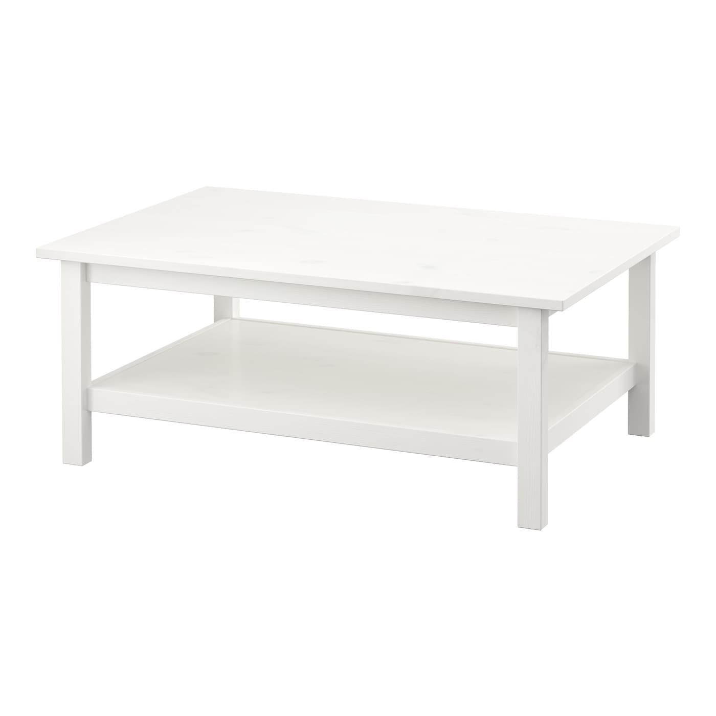 Hemnes table basse teint blanc 118x75 cm ikea for Ikea table blanc