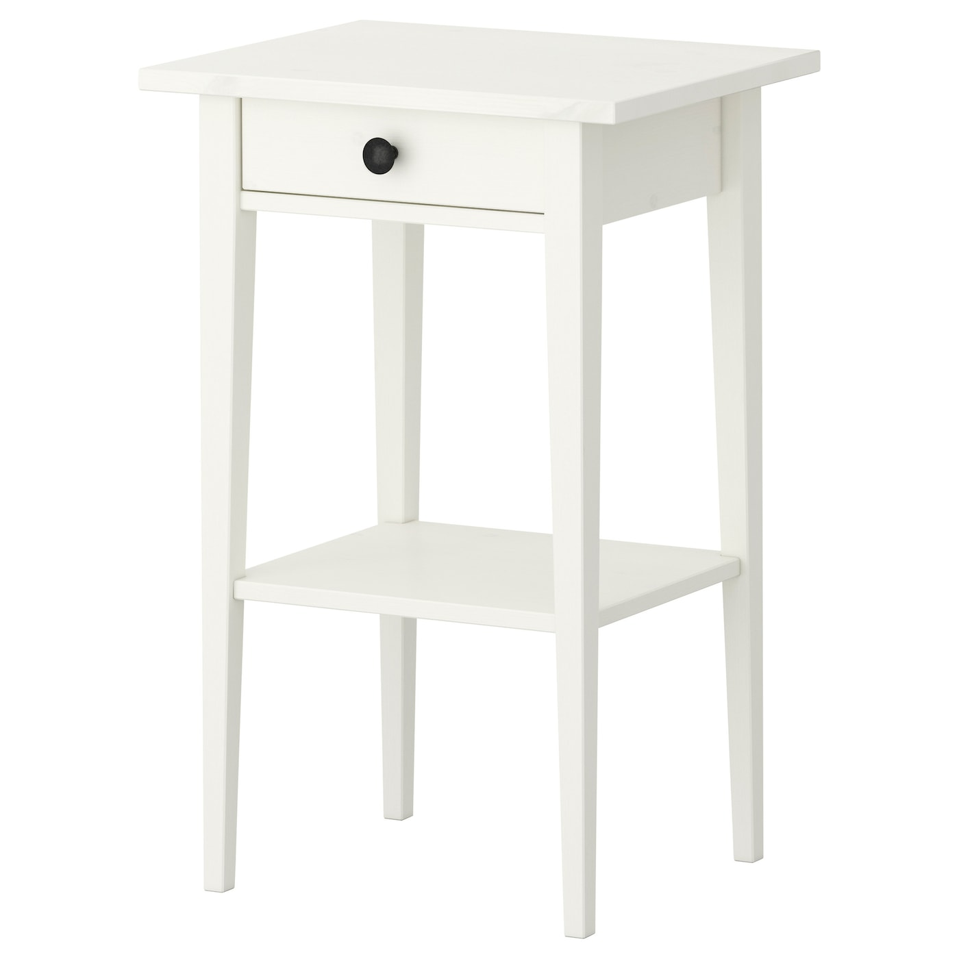 Hemnes table de chevet teint blanc 46x35 cm ikea - Table de chevet a suspendre ...