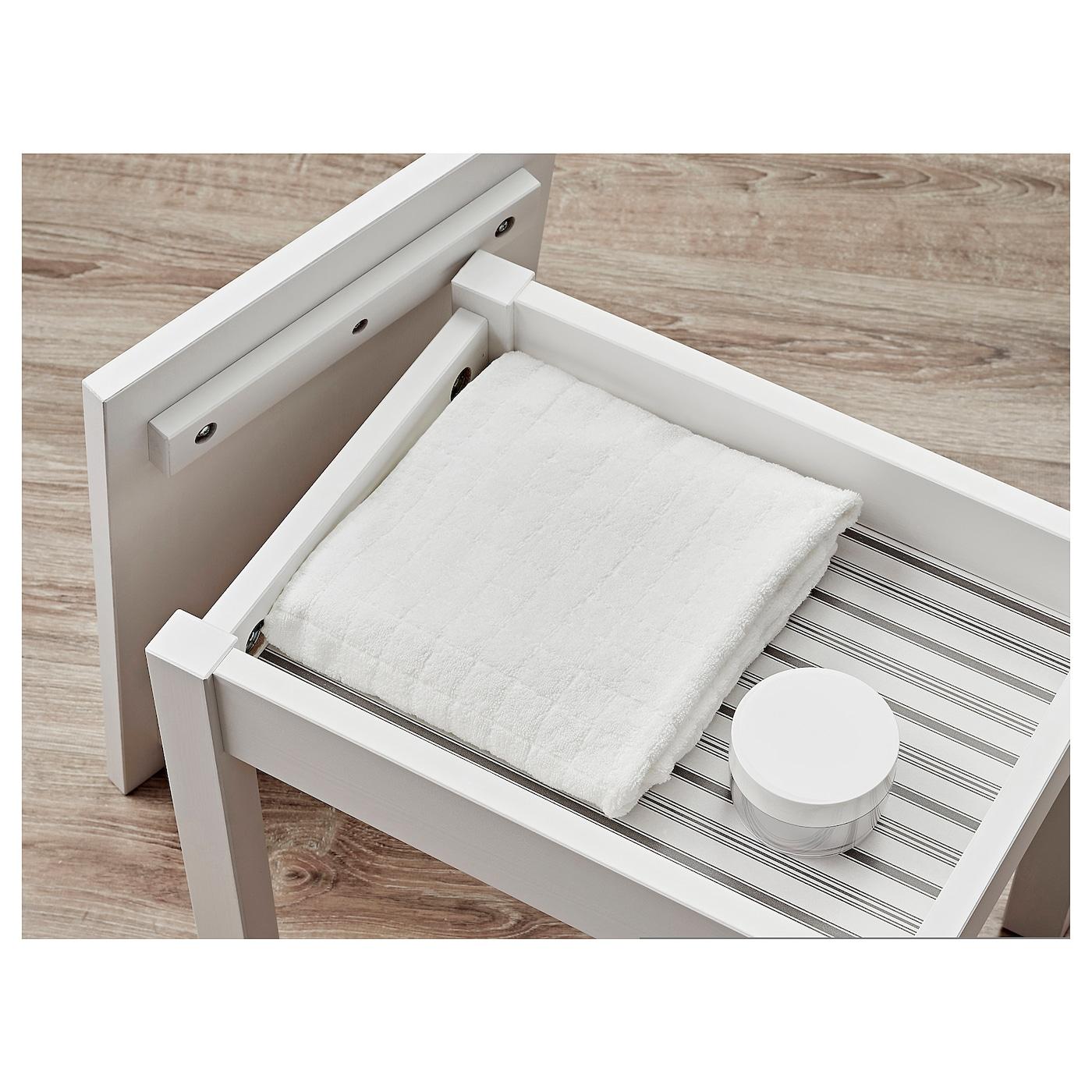 hemnes tabouret avec rangement blanc ikea. Black Bedroom Furniture Sets. Home Design Ideas