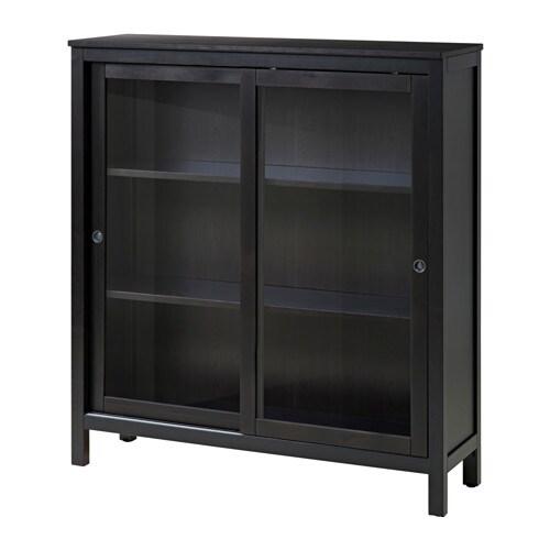 Vitrine Ikea hemnes vitrine brun noir 120x130 cm ikea