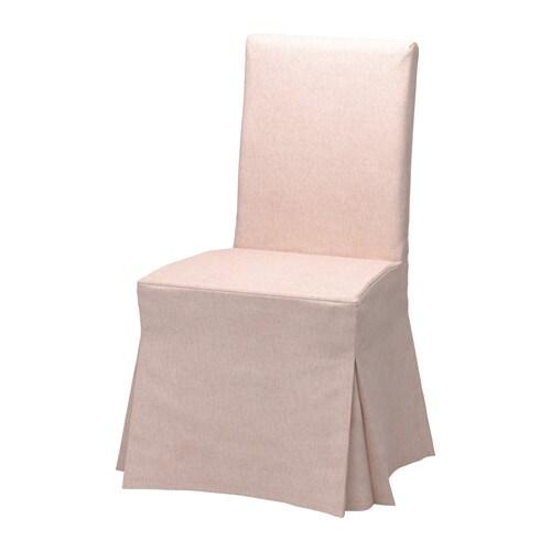 Henriksdal chaise avec housse longue gunnared rose p le for Housse chaise henriksdal