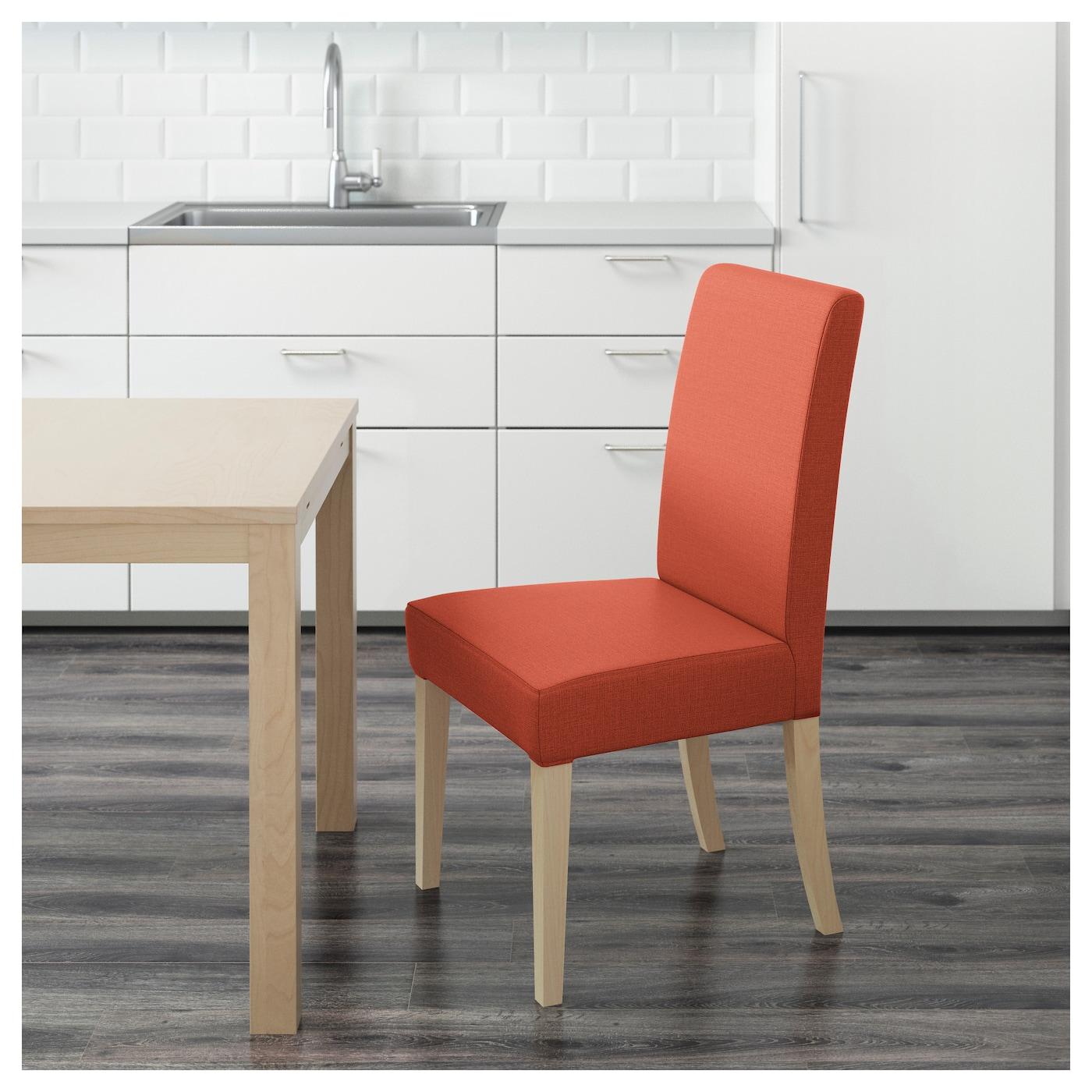 henriksdal chaise bouleau skiftebo orange fonc ikea. Black Bedroom Furniture Sets. Home Design Ideas