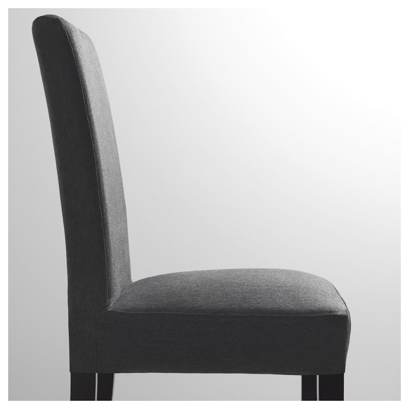 henriksdal chaise brun noir dansbo gris fonc ikea. Black Bedroom Furniture Sets. Home Design Ideas