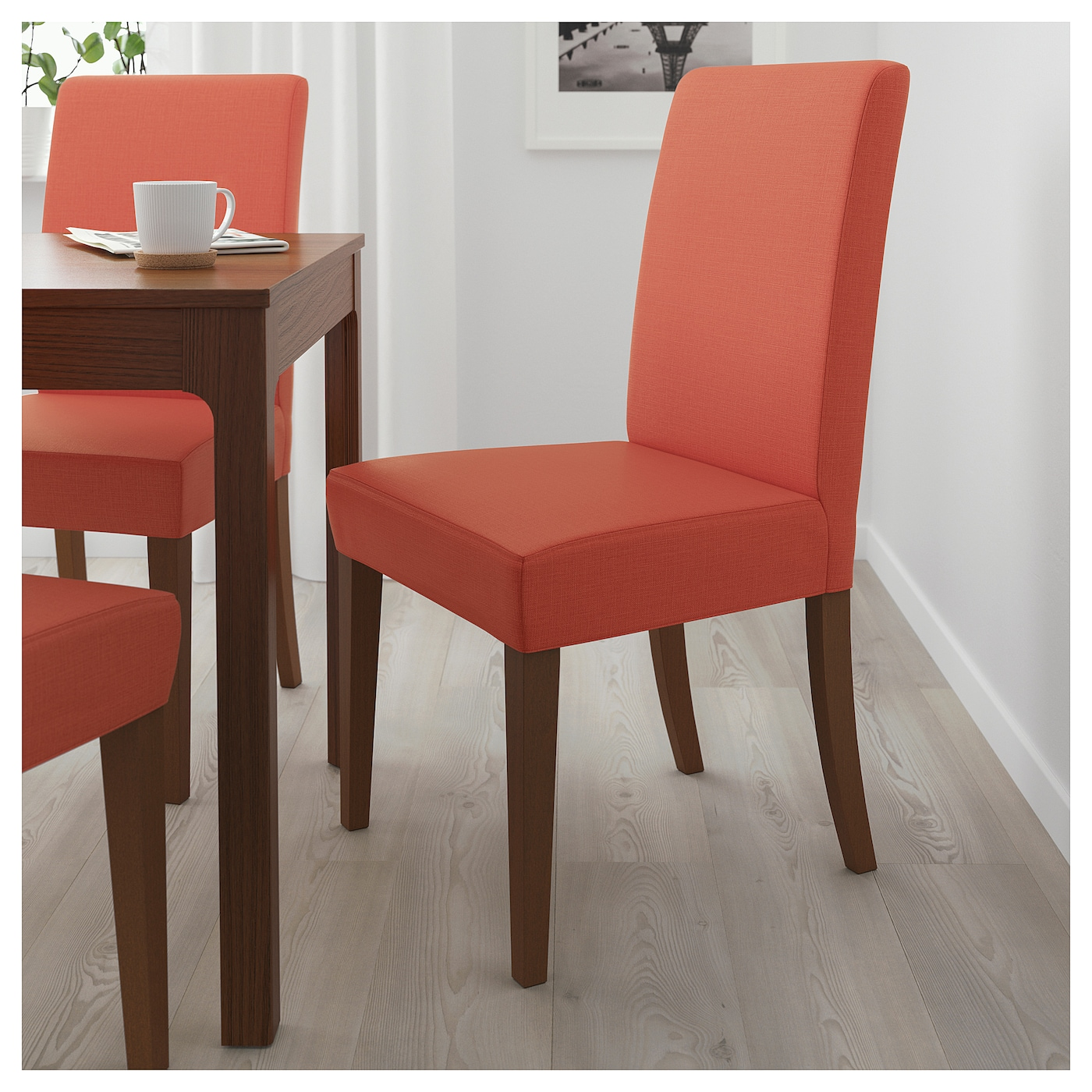 henriksdal chaise brun skiftebo orange fonc ikea. Black Bedroom Furniture Sets. Home Design Ideas
