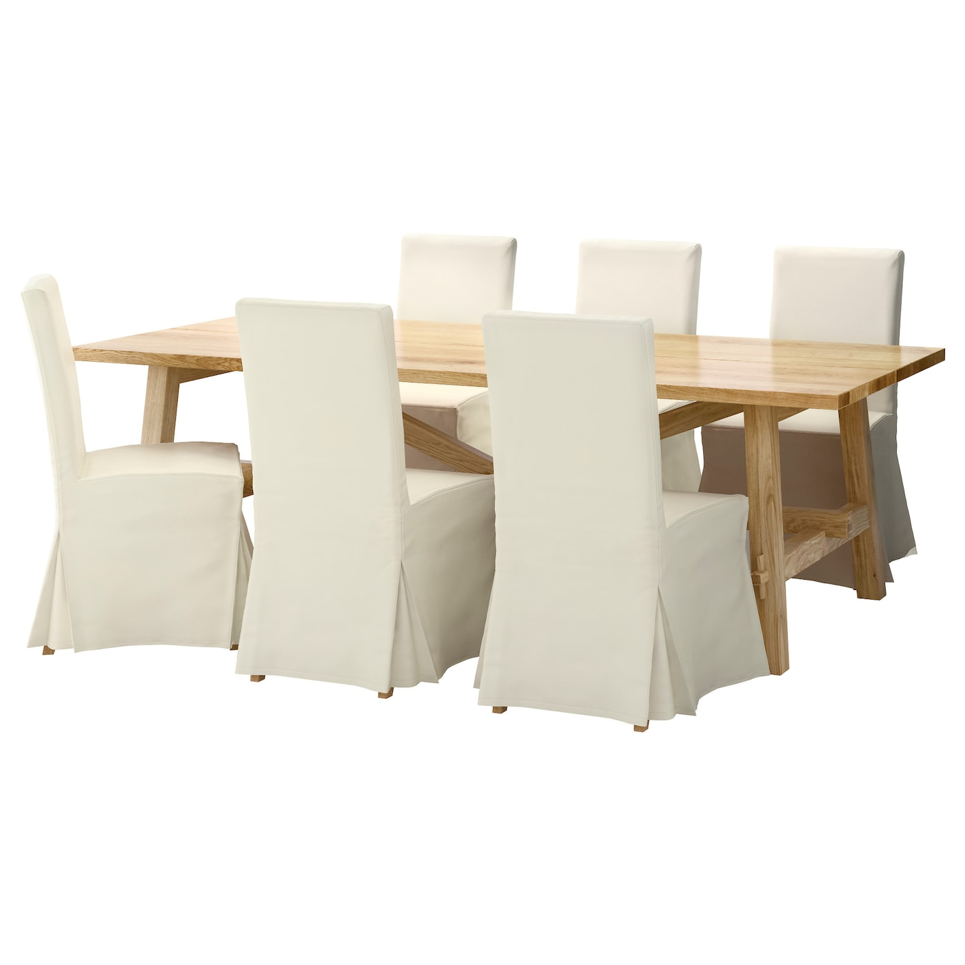 IKEA HENRIKSDAL/MÖCKELBY table et 6 chaises