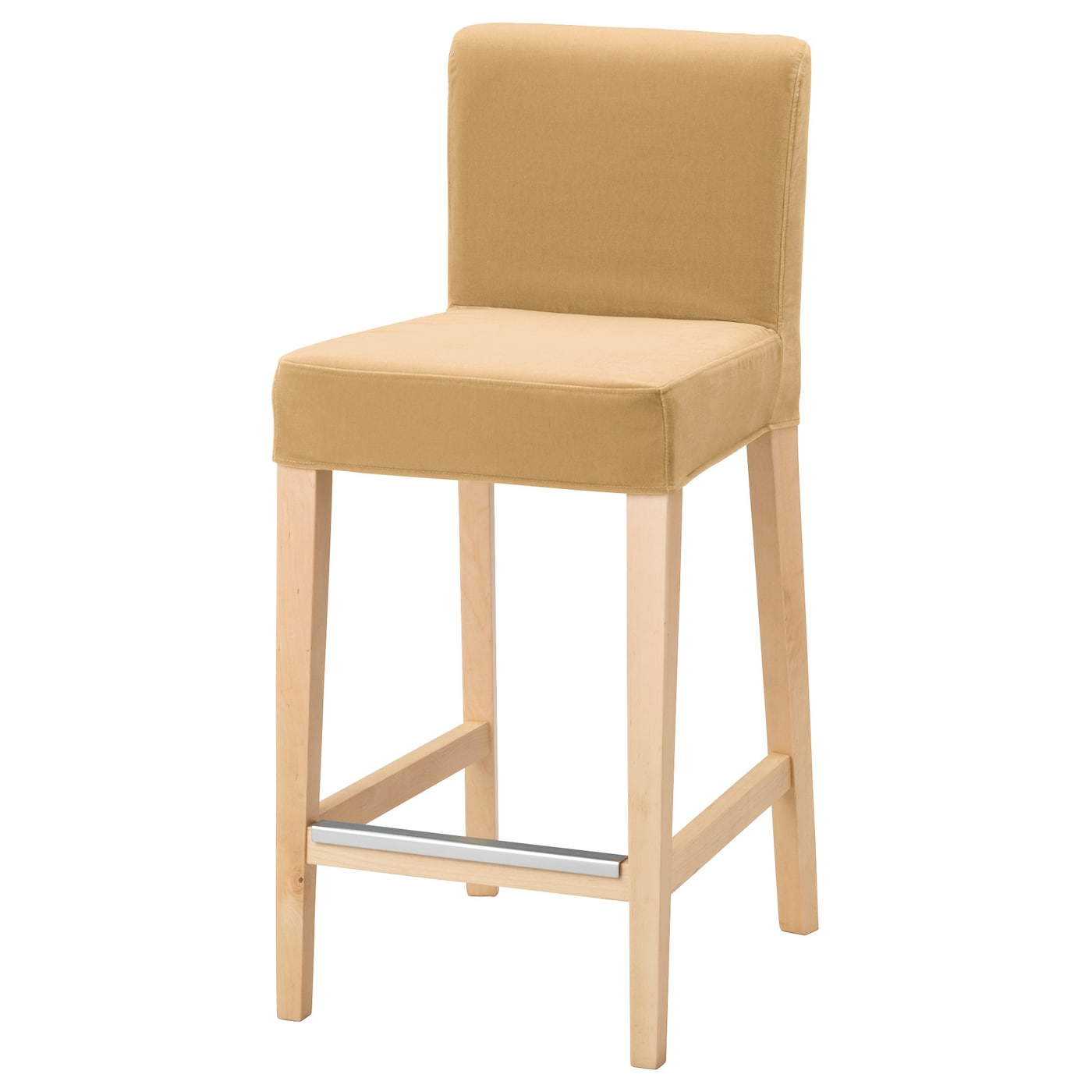 henriksdal tabouret de bar dossier bouleau djuparp jaune beige 63 cm ikea. Black Bedroom Furniture Sets. Home Design Ideas