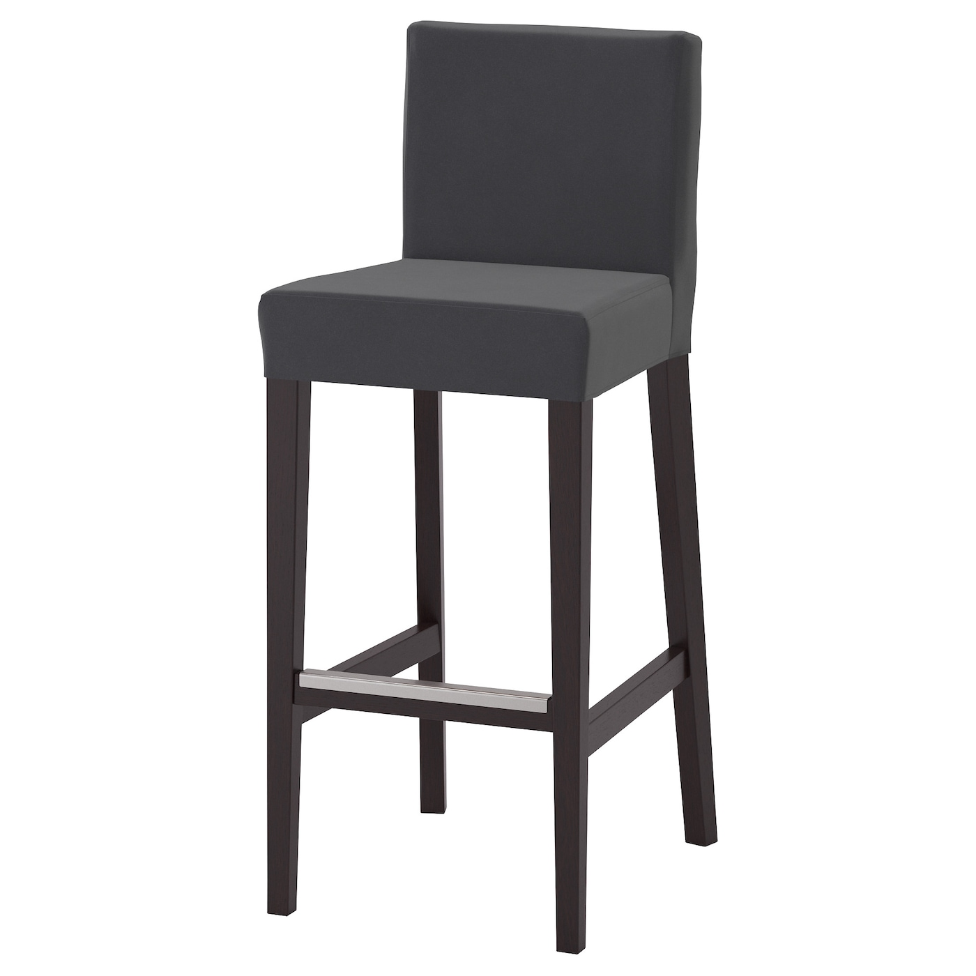 henriksdal tabouret de bar dossier brun noir djuparp gris fonc 74 cm ikea. Black Bedroom Furniture Sets. Home Design Ideas