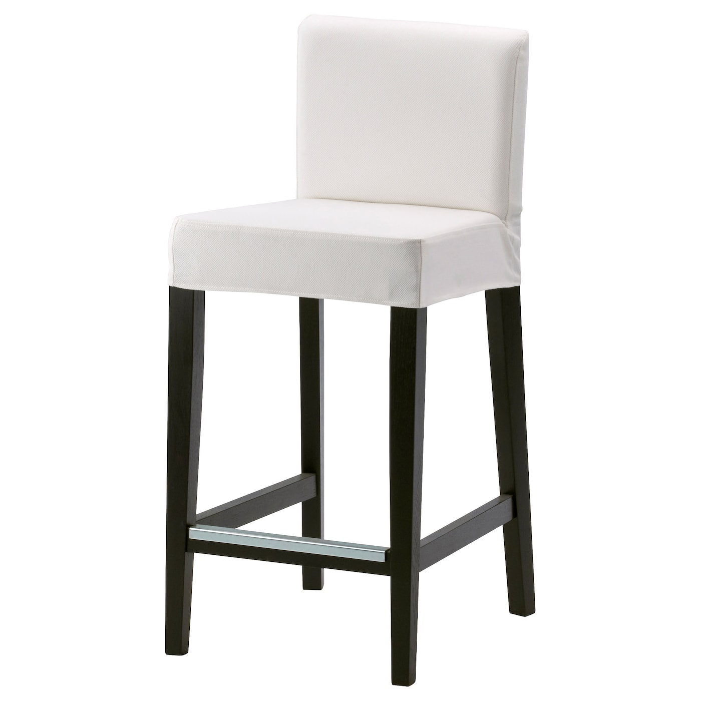 henriksdal tabouret de bar dossier brun noir gr sbo blanc 63 cm ikea. Black Bedroom Furniture Sets. Home Design Ideas