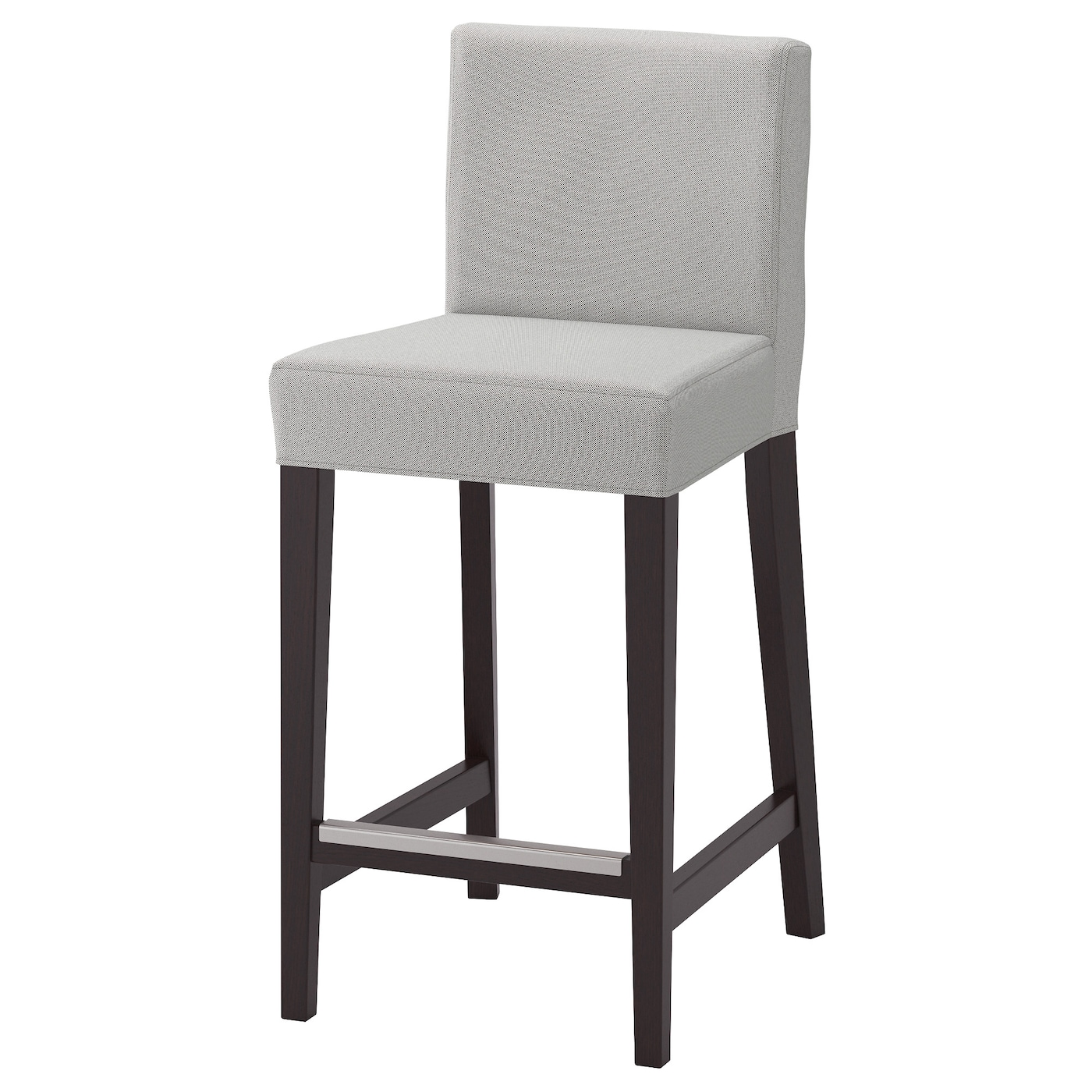 henriksdal tabouret de bar dossier brun noir orrsta gris clair 63 cm ikea. Black Bedroom Furniture Sets. Home Design Ideas