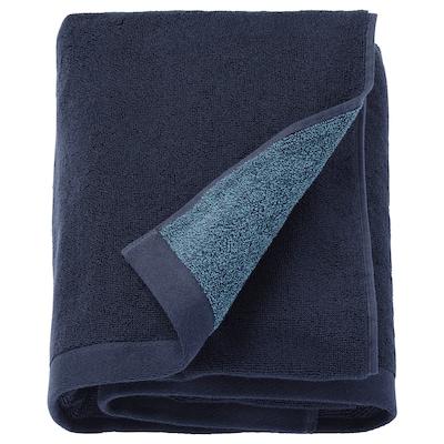 HIMLEÅN Drap de bain, bleu foncé/mélange, 100x150 cm