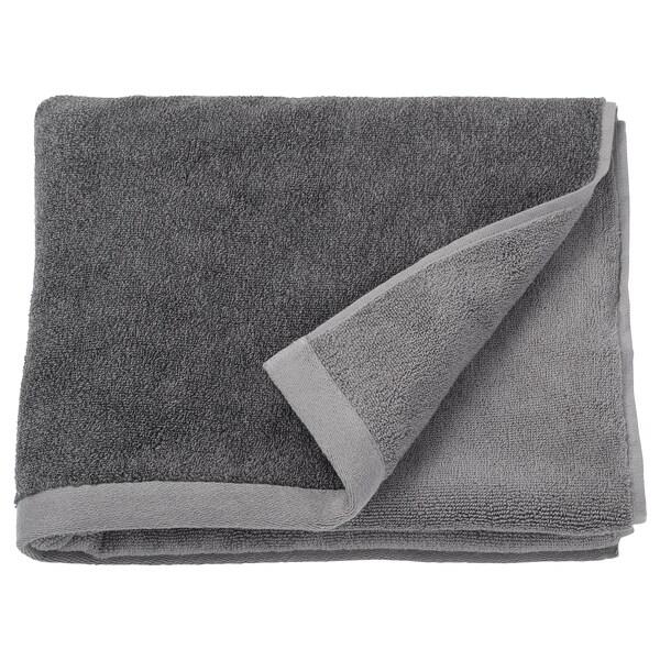 HIMLEÅN Drap de bain, gris foncé/mélange, 70x140 cm