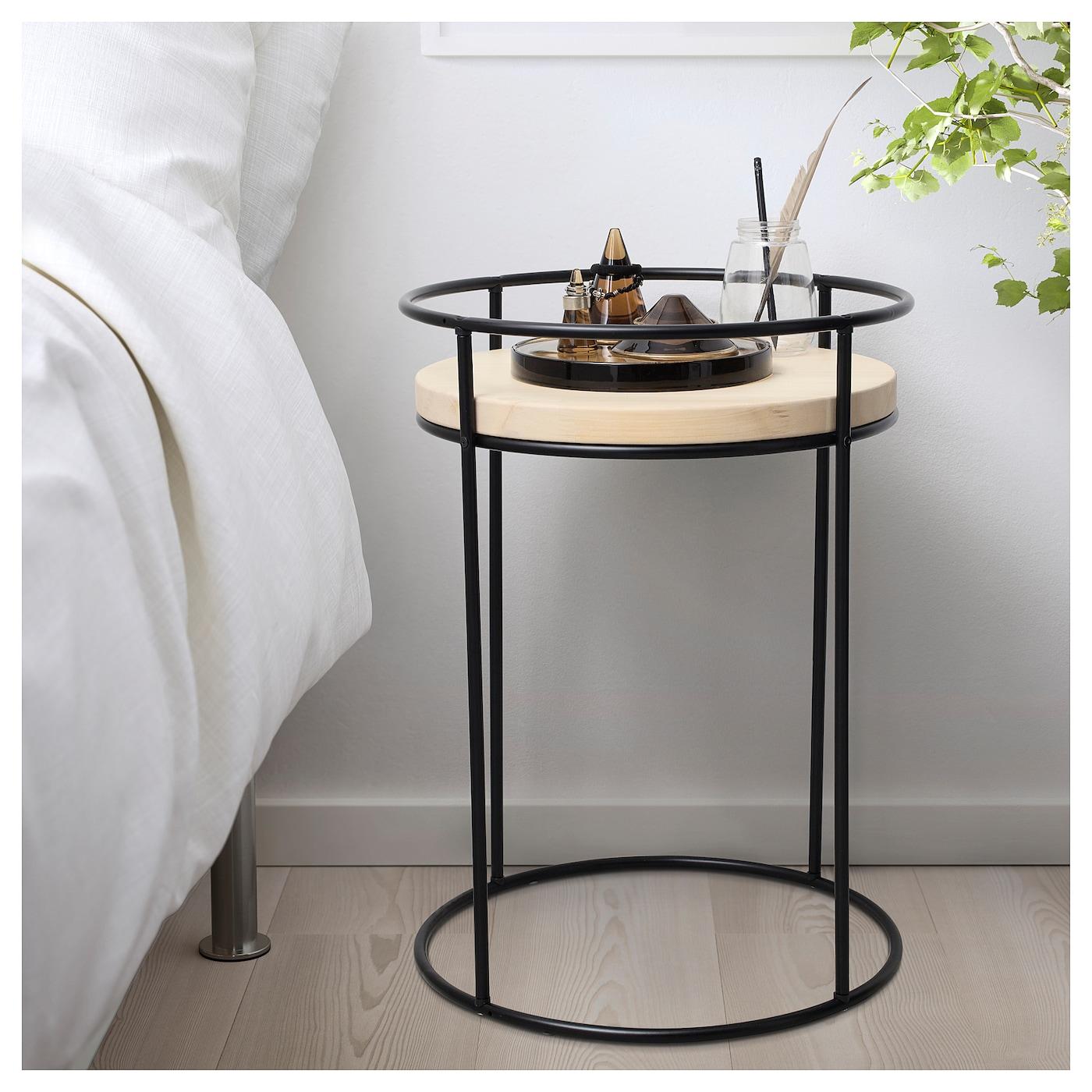 hj rtelig table de chevet pin noir 45 cm ikea. Black Bedroom Furniture Sets. Home Design Ideas
