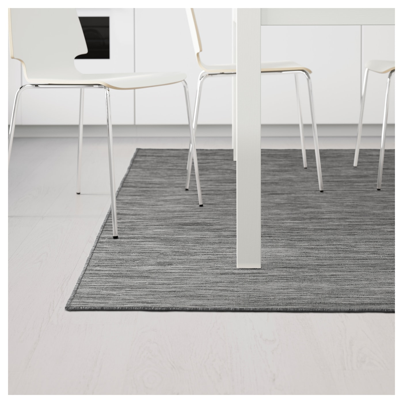 hodde tapis tiss plat int ext rieur gris noir 160x230. Black Bedroom Furniture Sets. Home Design Ideas