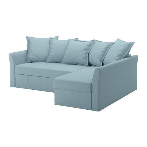 HOLMSUND Canapé convertible d\'angle Orrsta bleu clair - IKEA