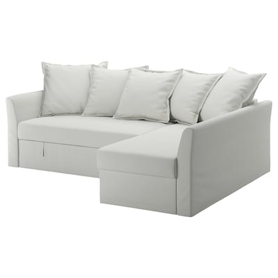 HOLMSUND canapé convertible d'angle Orrsta blanc-gris clair 96 cm 66 cm 151 cm 230 cm 90 cm 120 cm 60 cm 44 cm 140 cm 204 cm