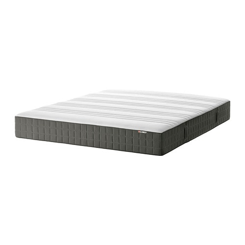 h v g matelas ressorts ensach s 140x200 cm ferme gris fonc ikea. Black Bedroom Furniture Sets. Home Design Ideas