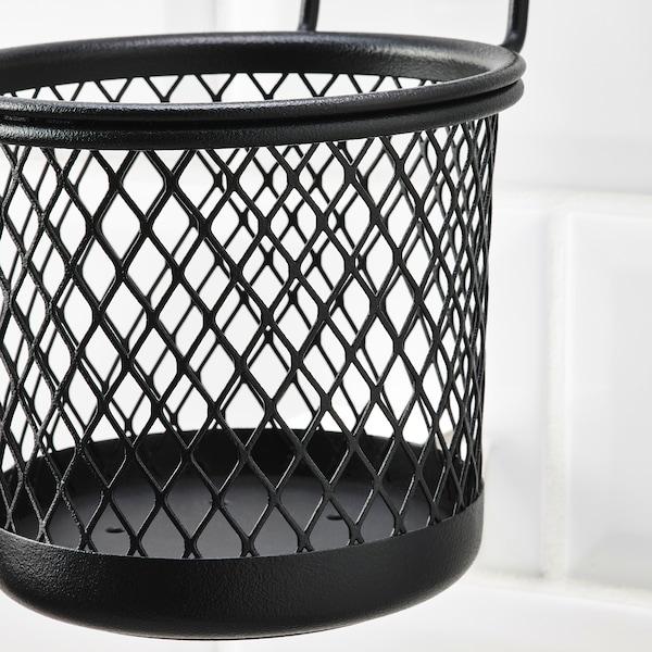 HULTARP Récipient, noir/grillage, 14x16 cm