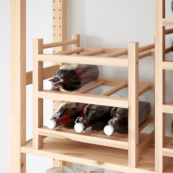 HUTTEN Range-bouteilles 9 places, bois massif - IKEA