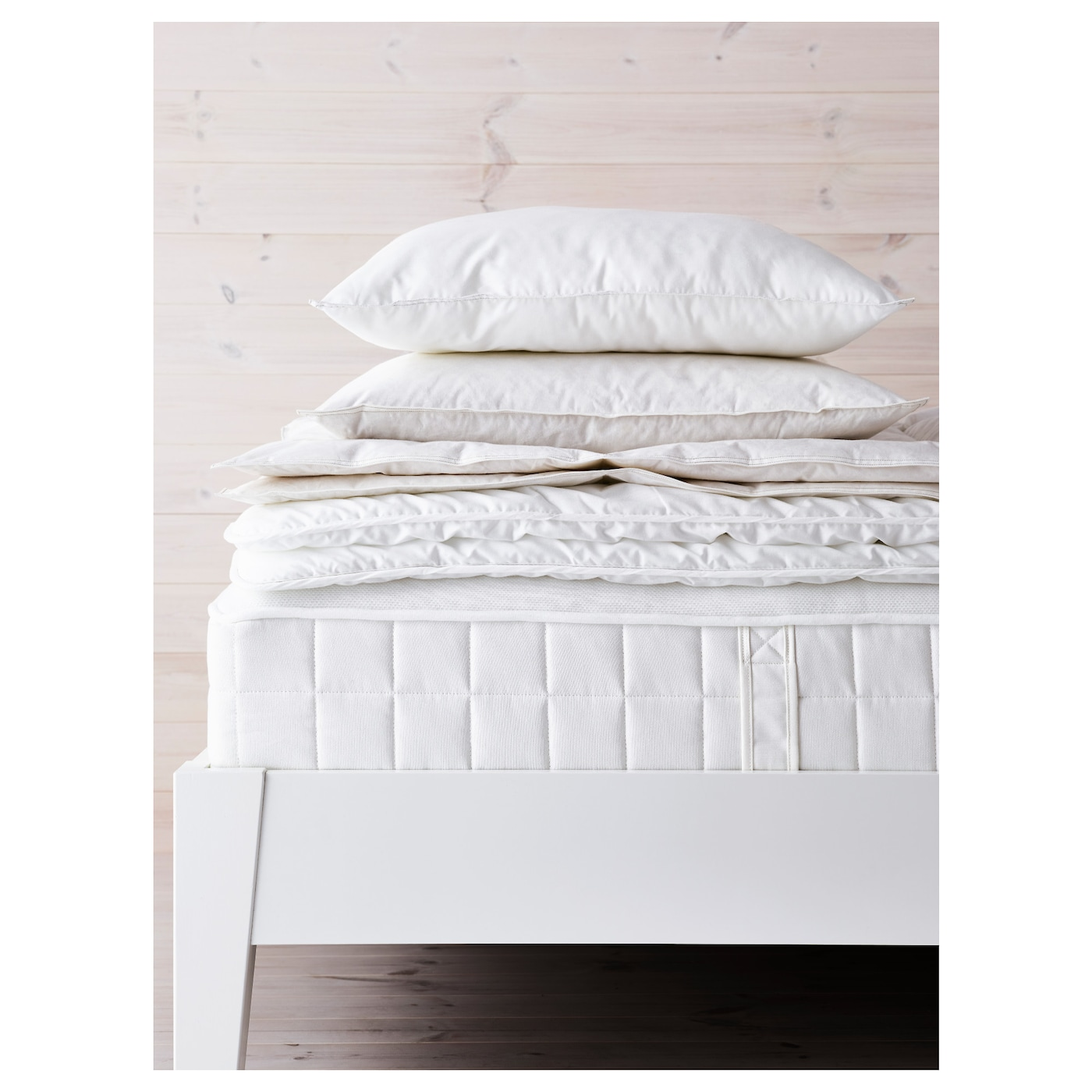 hyllestad matelas ressorts ensach s ferme blanc 160x200. Black Bedroom Furniture Sets. Home Design Ideas