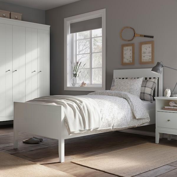 IDANÄS Cadre de lit, blanc/Luröy, 90x200 cm