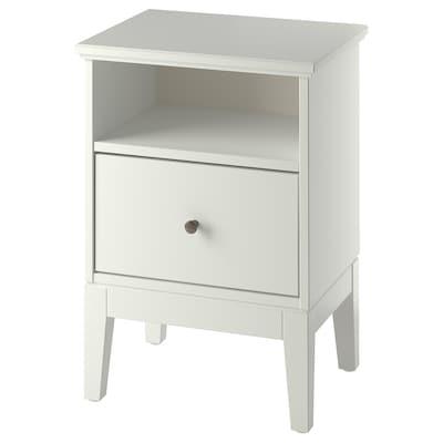 IDANÄS Table chevet, blanc, 47x40 cm