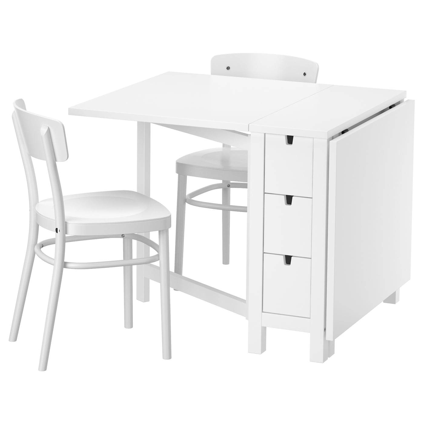 idolf norden table et 2 chaises blanc blanc 89 cm ikea. Black Bedroom Furniture Sets. Home Design Ideas