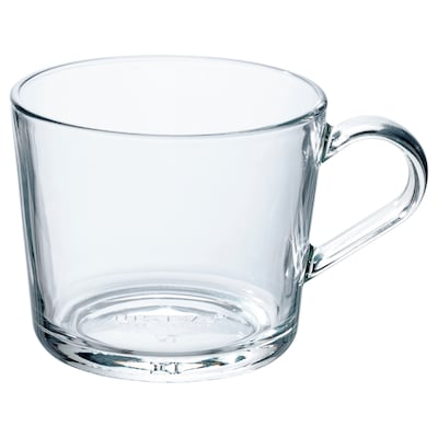 IKEA 365+ mug verre transparent 7 cm 24 cl