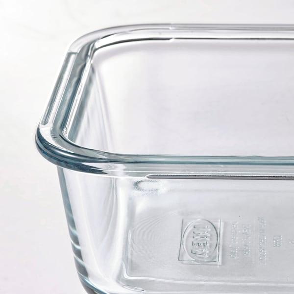 IKEA 365+ Récipient alimentaire, carré/verre, 600 ml