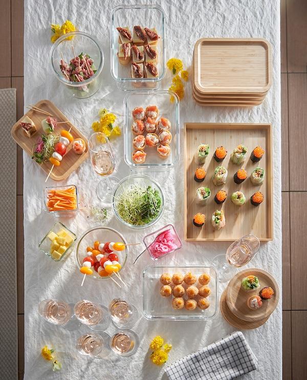 IKEA 365+ Récipient alimentaire, rectangulaire/verre, 1.0 l