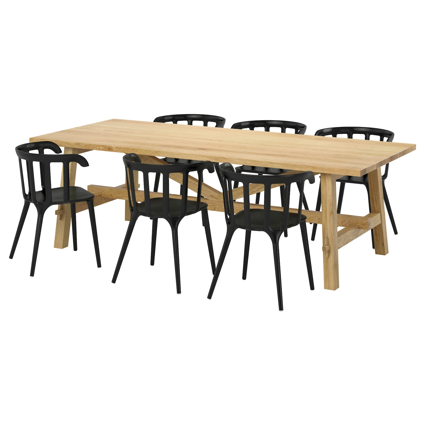 ikea ps 2012 m ckelby table et 6 chaises ch ne noir 235x100 cm ikea. Black Bedroom Furniture Sets. Home Design Ideas