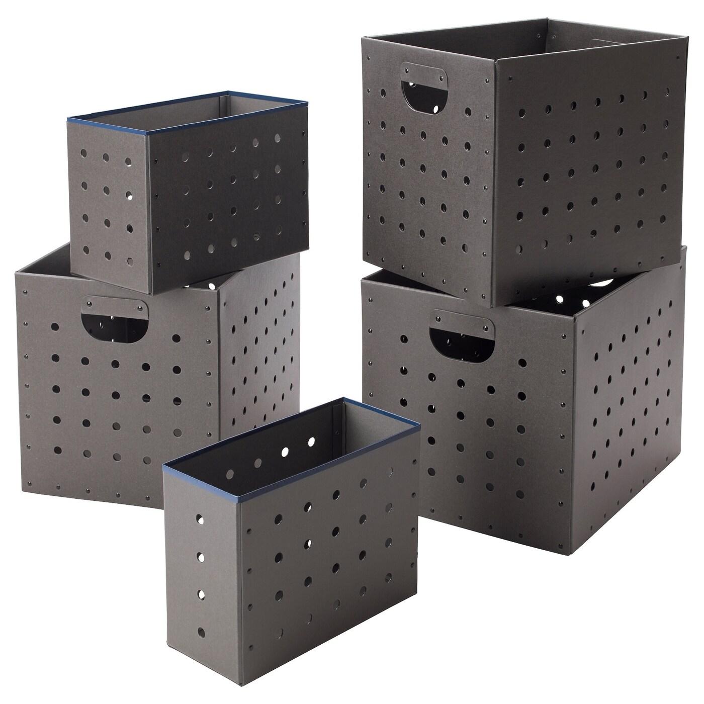 Ikea ps 2017 bo tes 5 pi ces gris ikea - Ikea suivi de commande ...