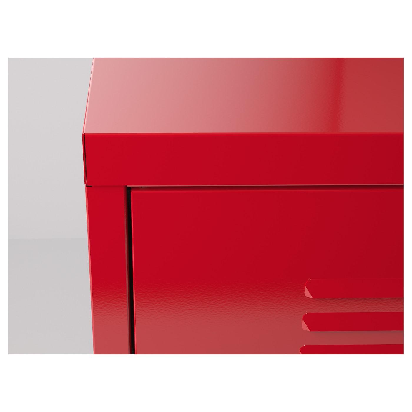 Ikea Ps Armoire M Tallique Rouge 119×63 Cm Ikea # Meuble Tv Ikea Grillage