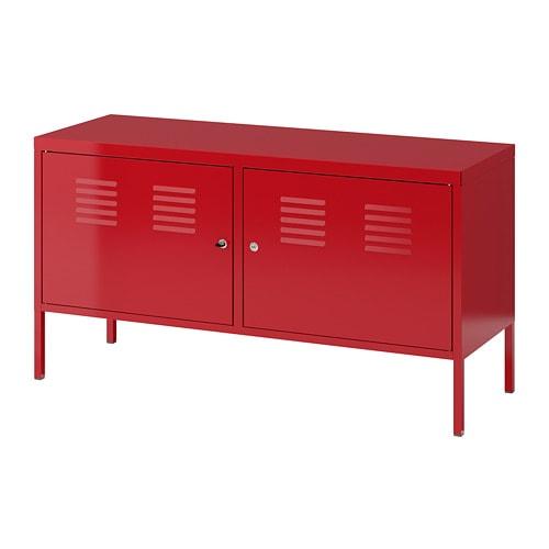 Ikea Meuble Industriel ikea ps armoire métallique rouge 119 x 63 cm - ikea