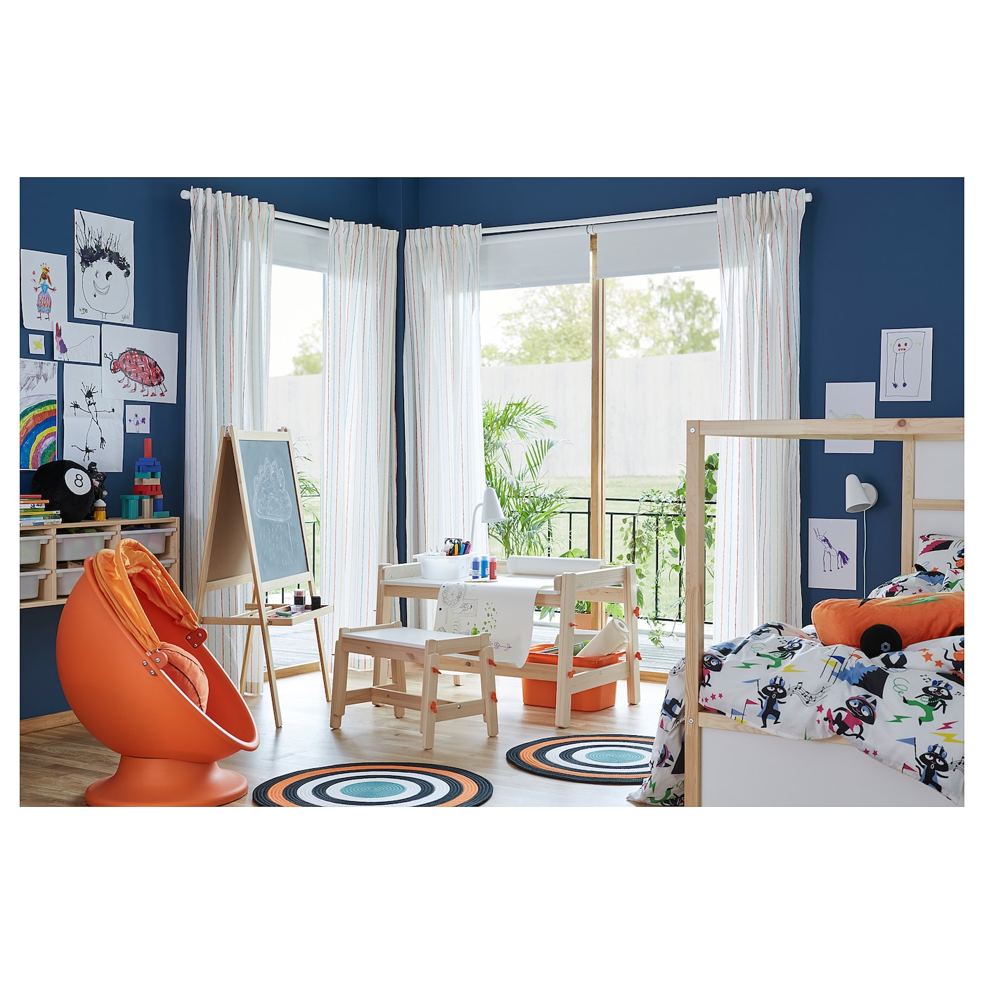 ikea ps l msk fauteuil pivotant orange orange clair ikea. Black Bedroom Furniture Sets. Home Design Ideas