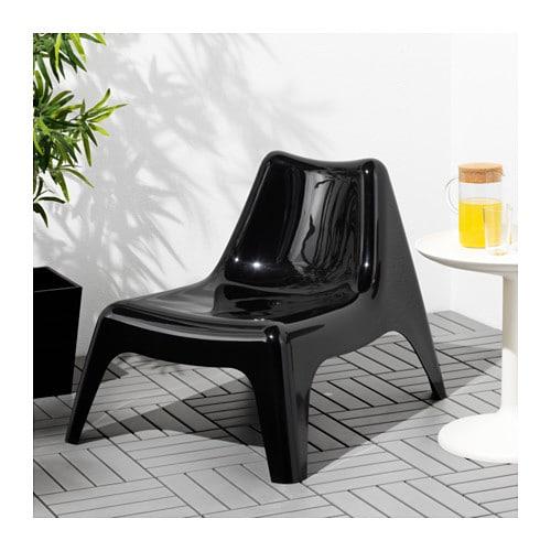 ikea ps v g fauteuil ext rieur noir ikea. Black Bedroom Furniture Sets. Home Design Ideas