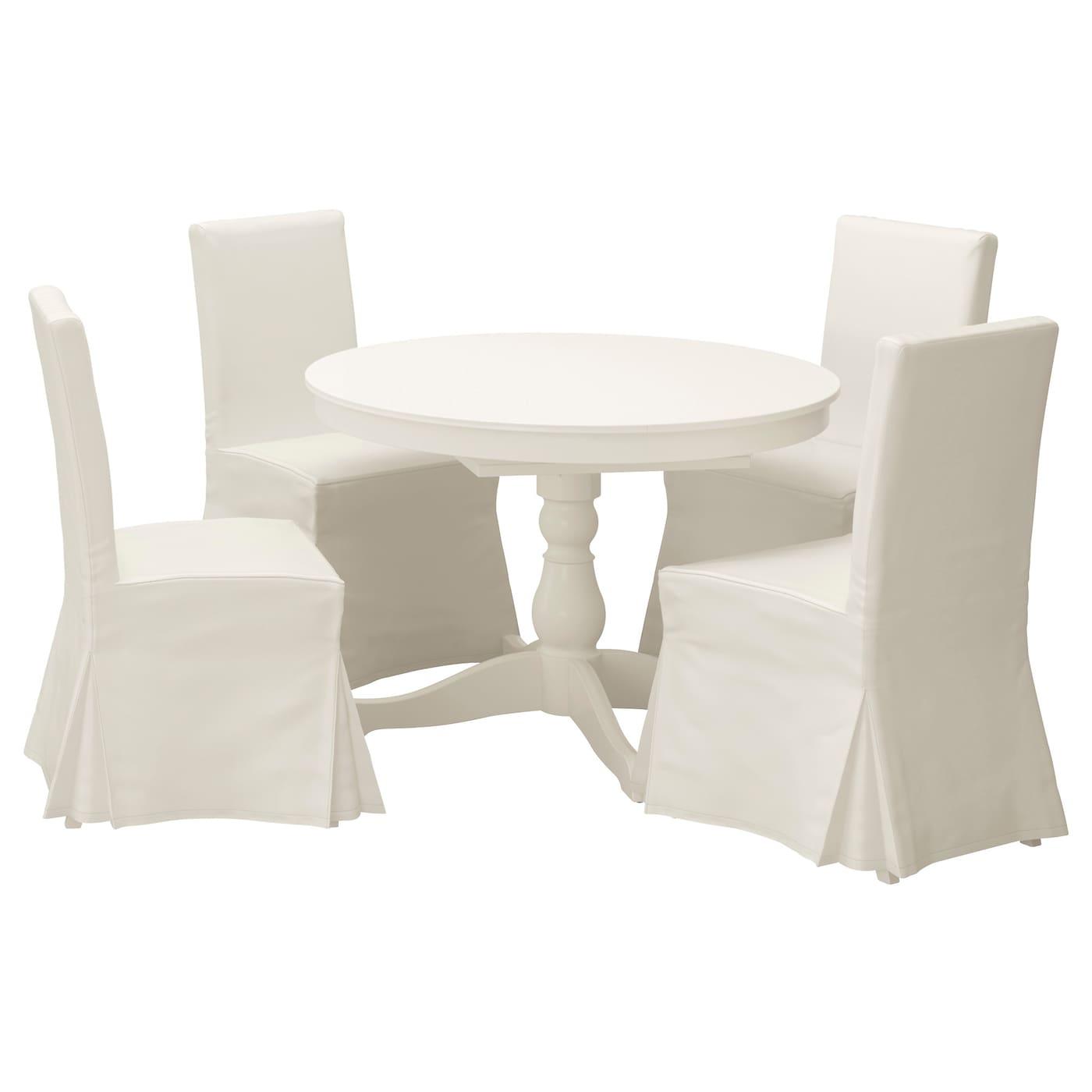 ingatorp henriksdal table et 4 chaises blanc blekinge blanc 110 cm ikea. Black Bedroom Furniture Sets. Home Design Ideas