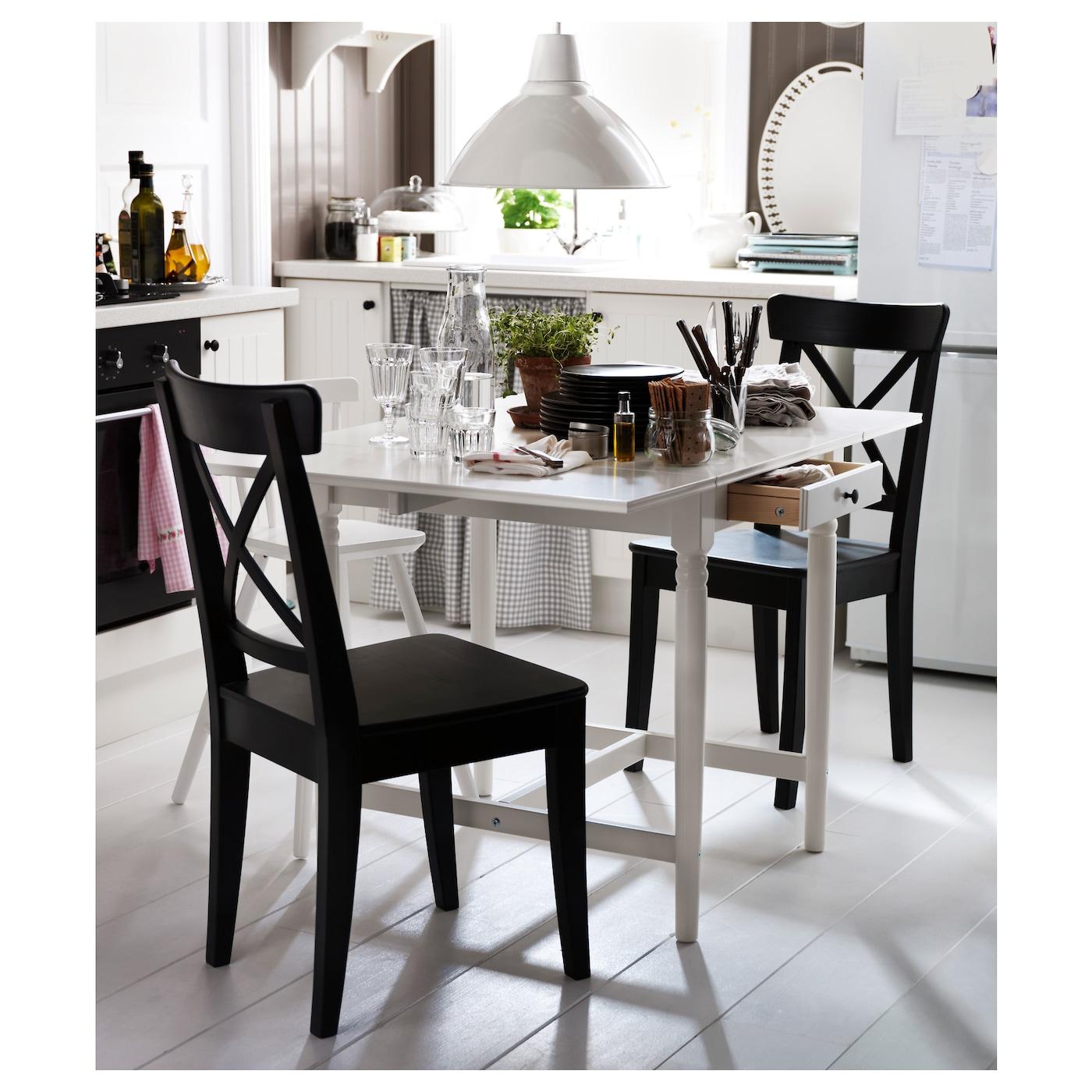 ingatorp table rabats blanc 65 123 x 78 cm ikea. Black Bedroom Furniture Sets. Home Design Ideas