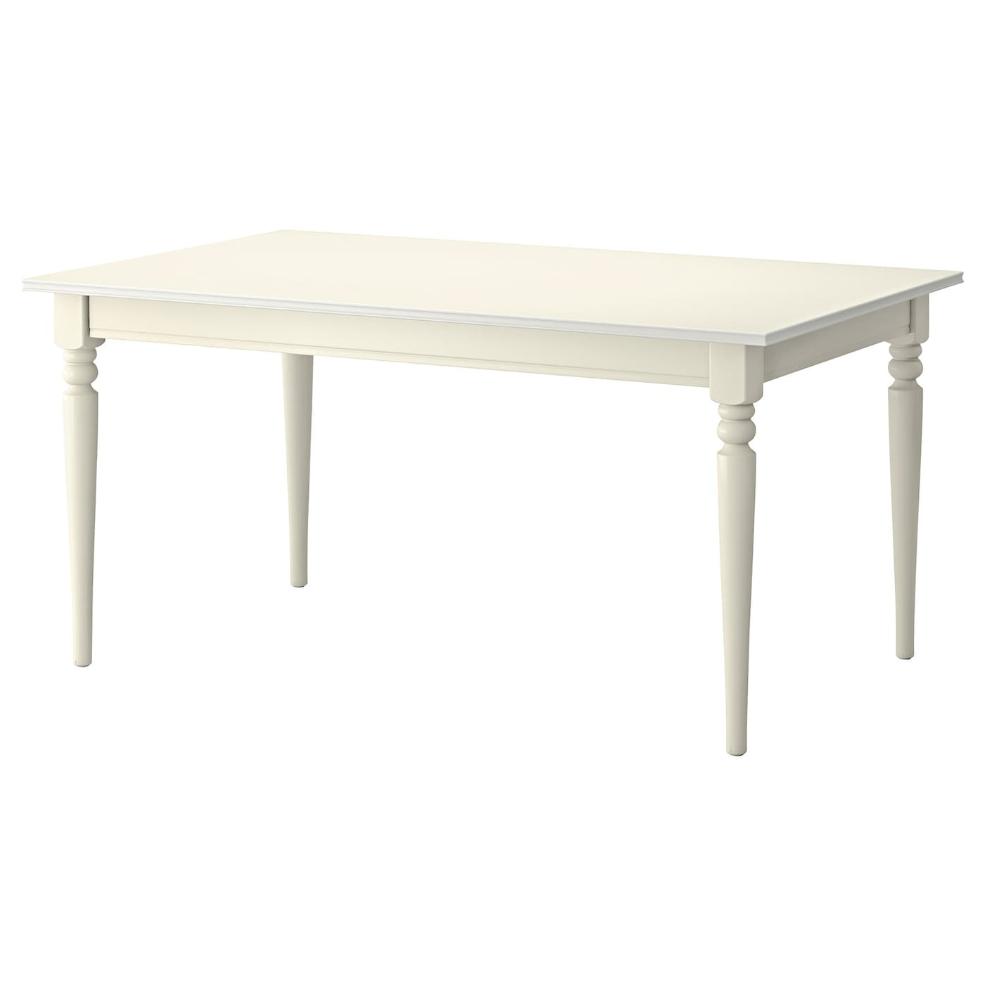 IKEA INGATORP table extensible 1 rallonge incluse. La surface vernie est facile à nettoyer.