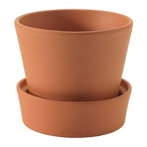 Ingef ra pot avec coupelle ext rieur terre cuite 10 5 for Pot exterieur couleur