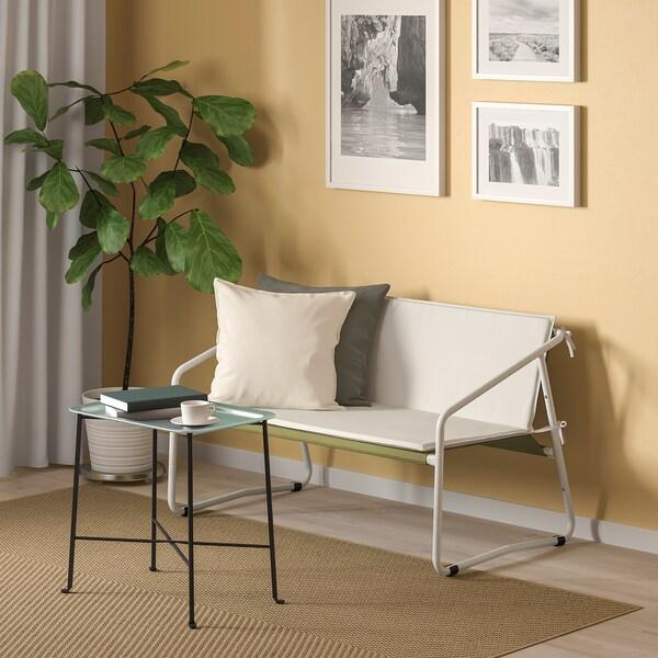 INGMARSÖ Canapé 2 places, int/ext, blanc vert/beige, 118x69x69 cm
