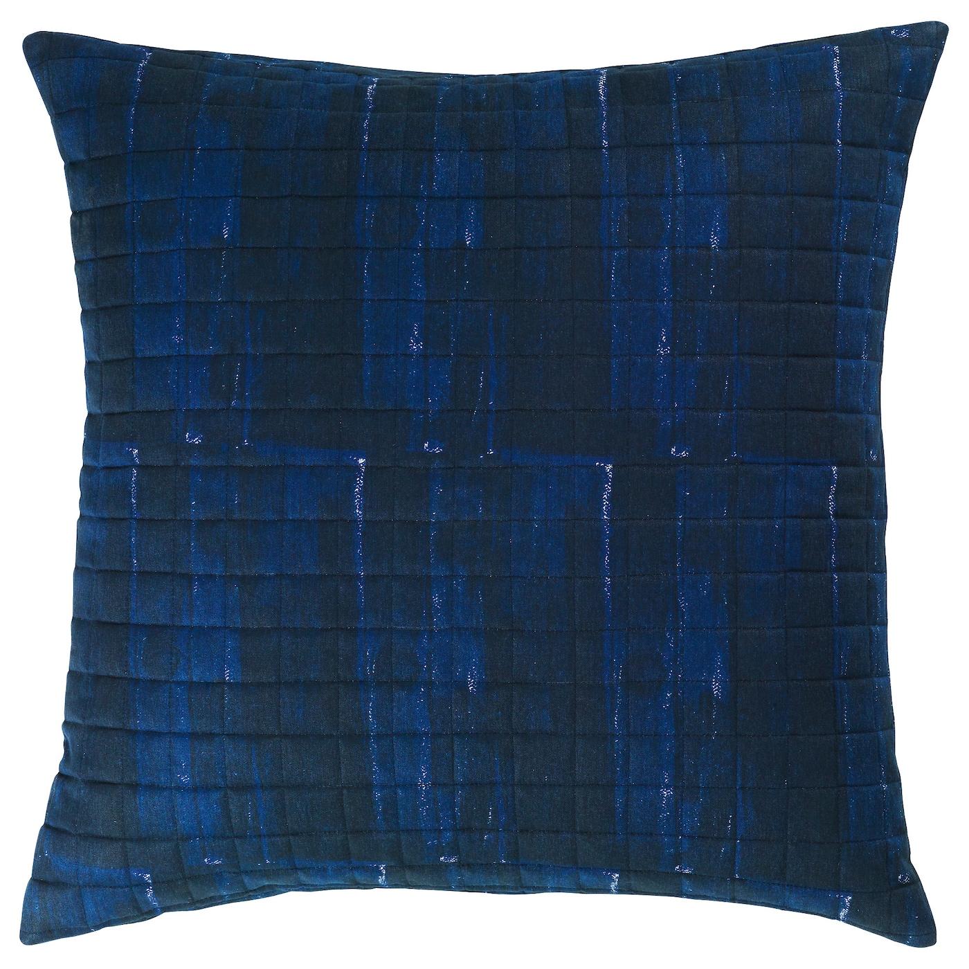 inneh llsrik housse de coussin fait main bleu blanc 50x50 cm ikea. Black Bedroom Furniture Sets. Home Design Ideas
