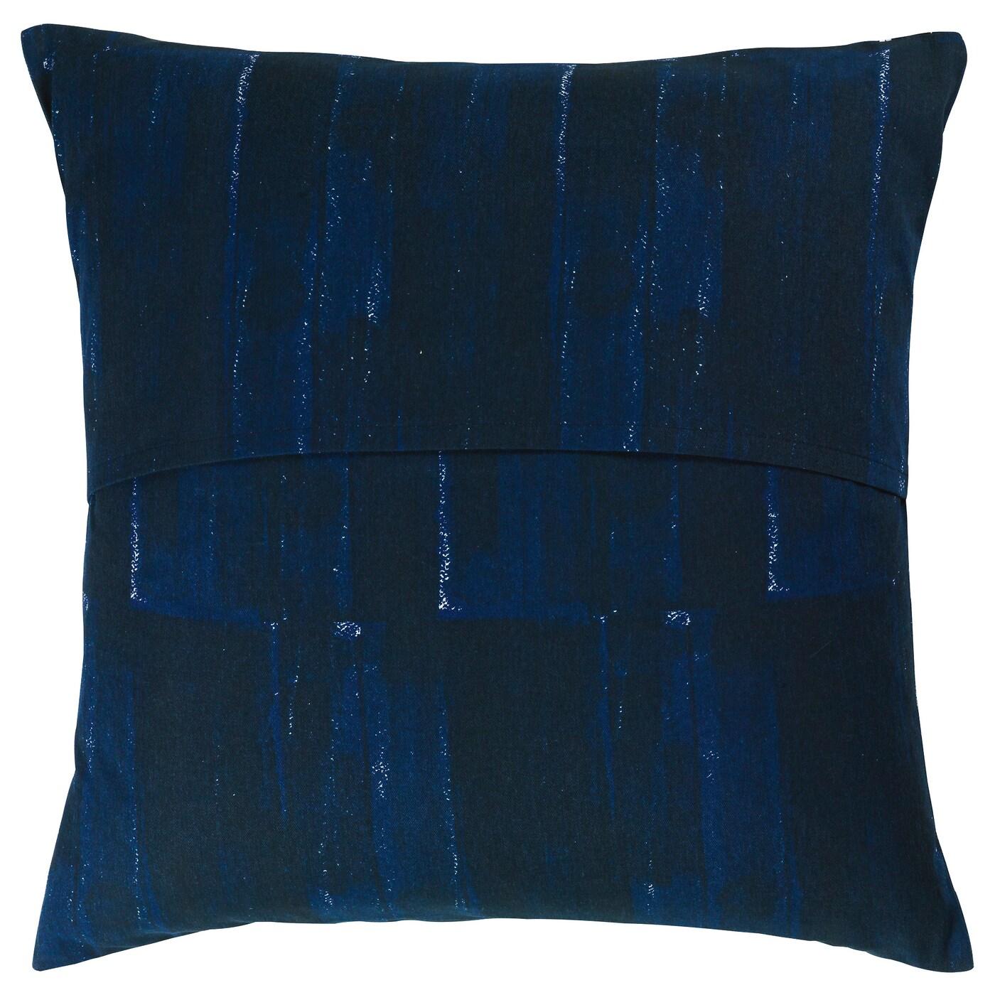 Inneh llsrik housse de coussin fait main bleu 50x50 cm ikea - Housse de coussins 50x50 ...