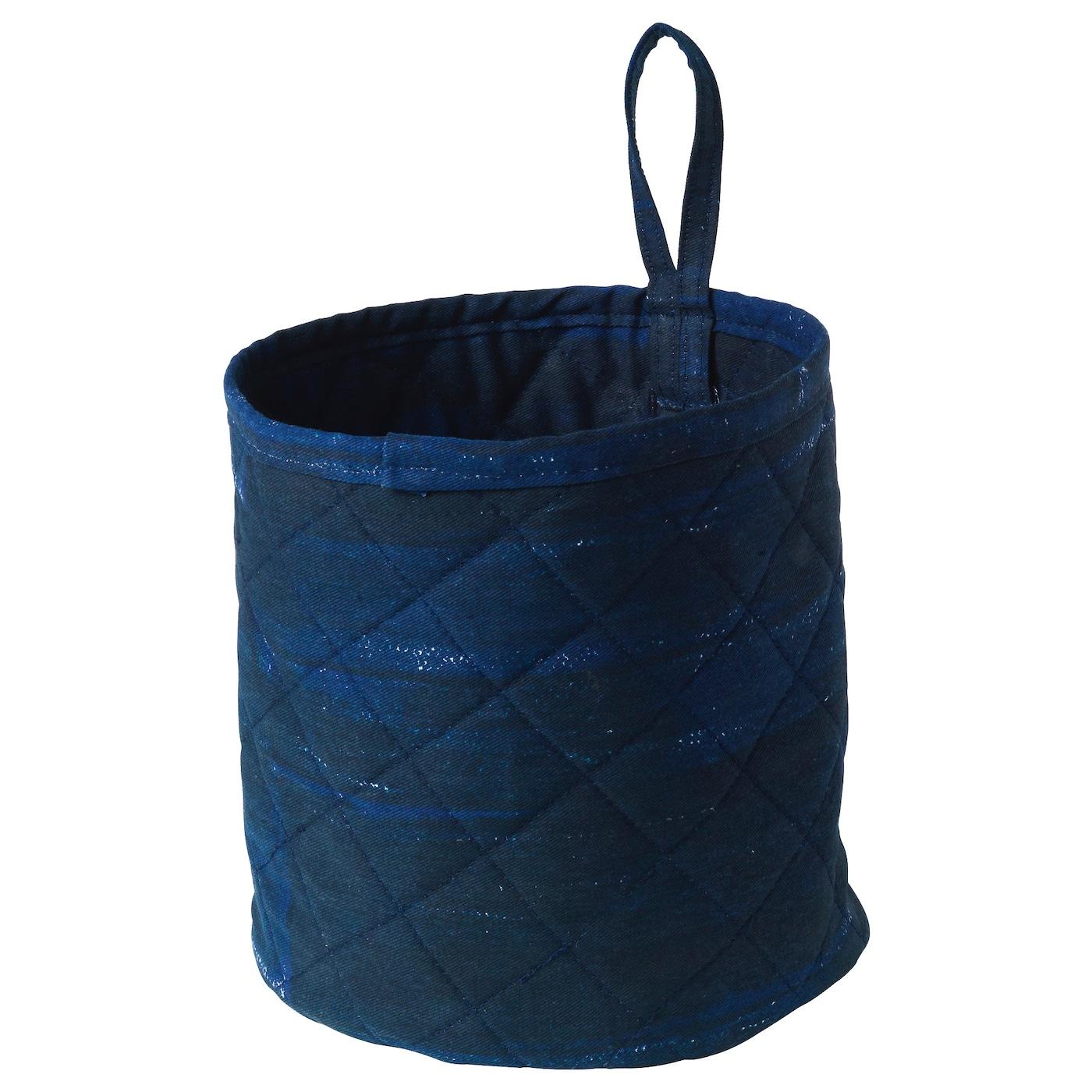 inneh llsrik panier fait main bleu 18 cm ikea. Black Bedroom Furniture Sets. Home Design Ideas