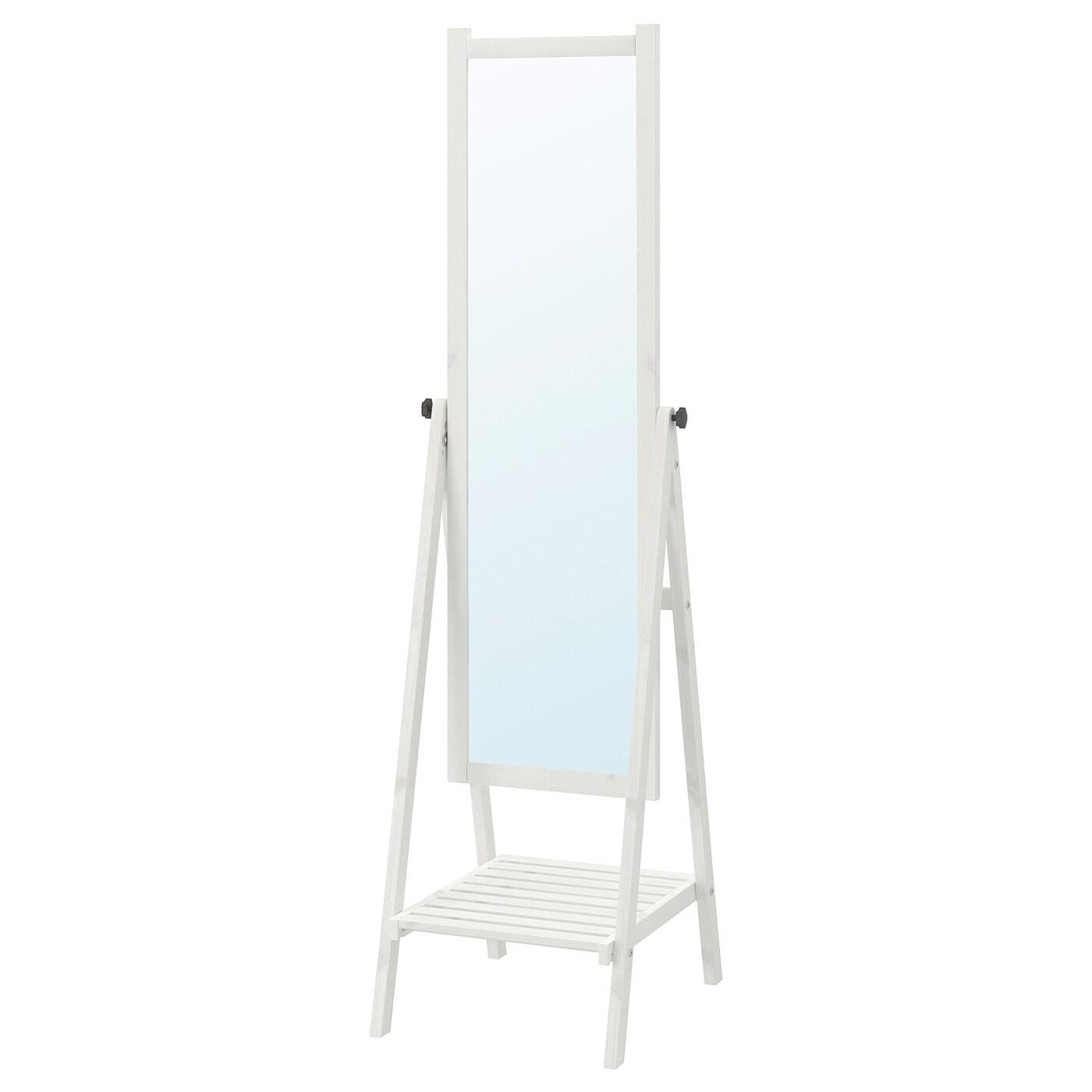 isfjorden miroir sur pied teint blanc 47 x 182 cm ikea. Black Bedroom Furniture Sets. Home Design Ideas