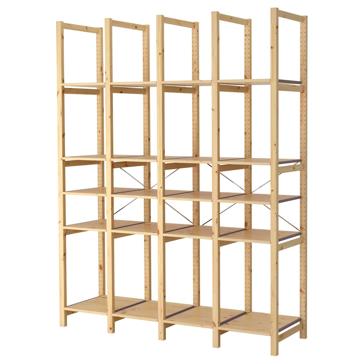 ivar 4 sections tablettes pin 179 x 50 x 226 cm ikea. Black Bedroom Furniture Sets. Home Design Ideas