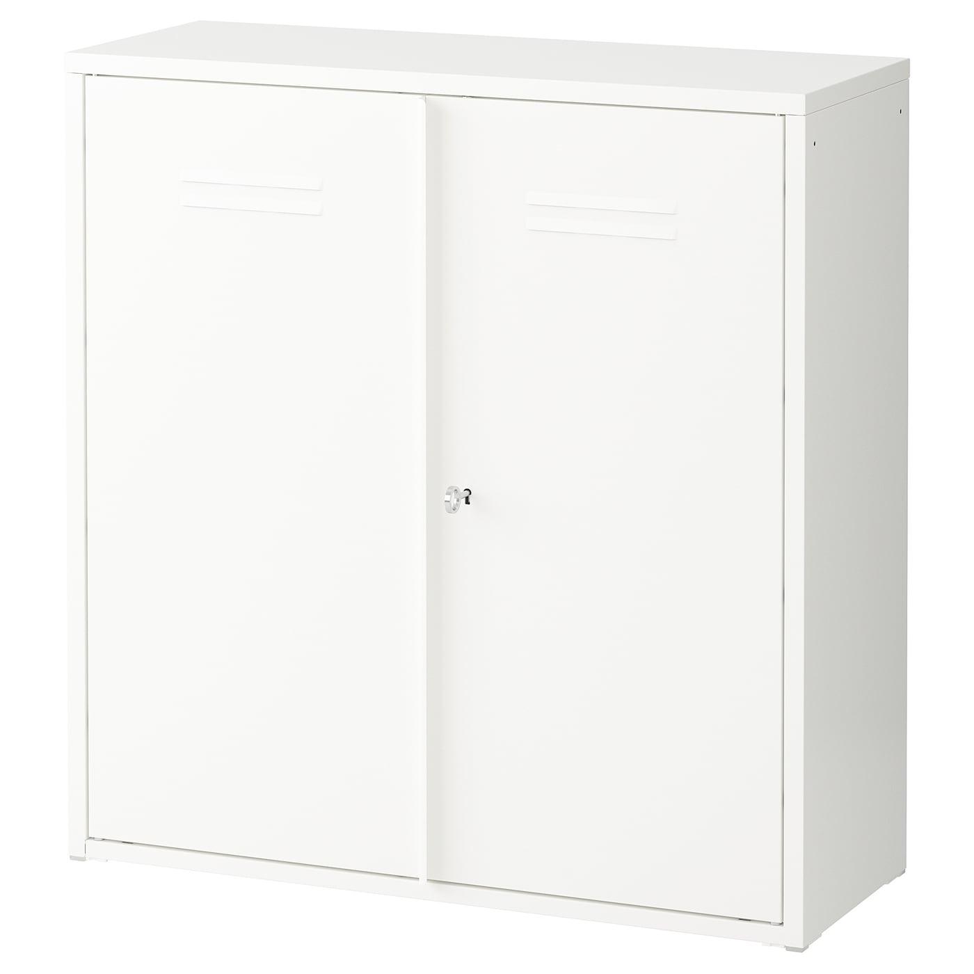 ivar armoire avec portes blanc 80 x 83 cm ikea. Black Bedroom Furniture Sets. Home Design Ideas