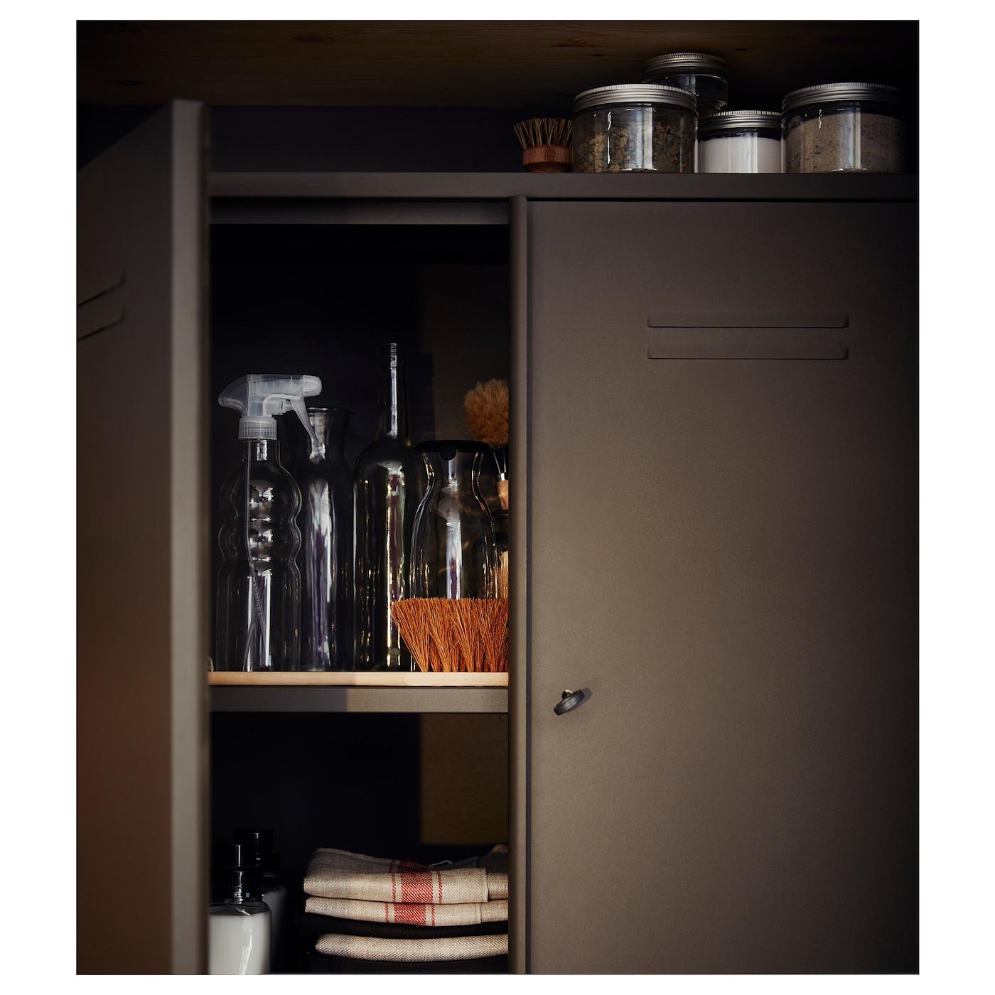 ivar armoire avec portes gris 80x83 cm ikea. Black Bedroom Furniture Sets. Home Design Ideas