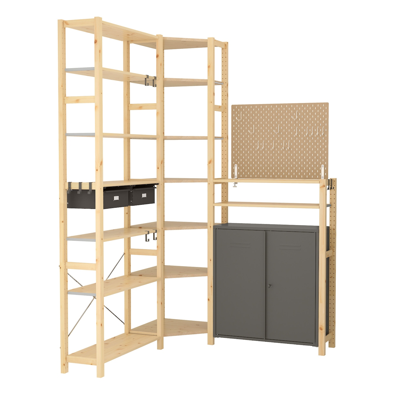 ivar sk dis 3 sections tablettes l ment 145 145x30x226 cm ikea. Black Bedroom Furniture Sets. Home Design Ideas