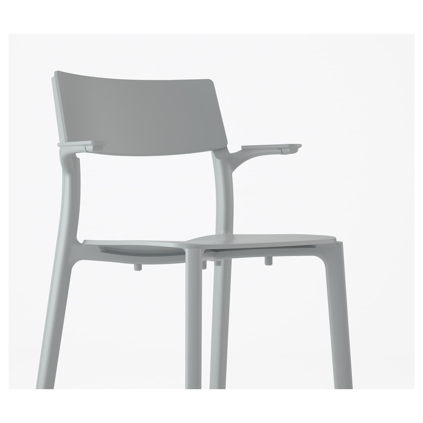 janinge chaise accoudoirs gris ikea. Black Bedroom Furniture Sets. Home Design Ideas