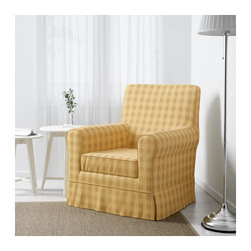jennylund fauteuil skaftarp jaune carreaux ikea. Black Bedroom Furniture Sets. Home Design Ideas